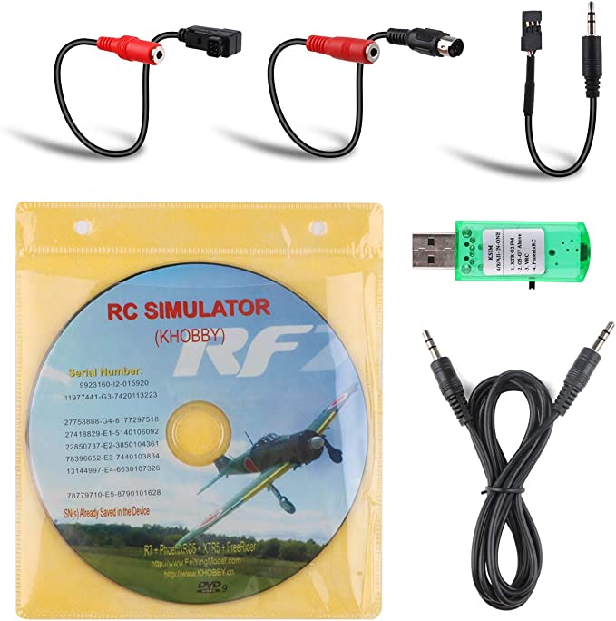 Fayeille RC Simulator 22 in 1 Sy Installation Hobby mit Kabel B Zubeh/ör Praktisch Spared Spielzeug Drone f/ür Realflight G7