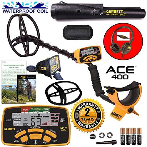 Garrett ACE 400 Metal Detector with DD Waterproof Search ...