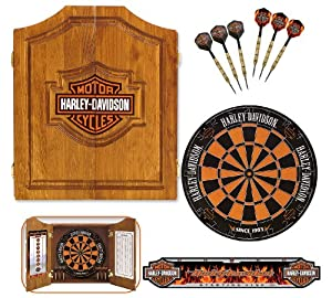 Exceptional Harley Davidson 61995 Bar And Shield Dartboard Cabinet Kit