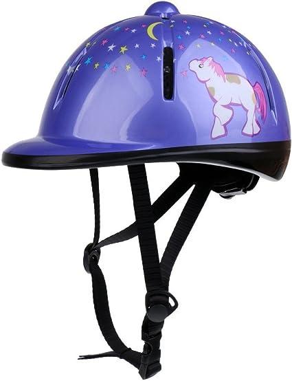 Violet PQZATX Enfants Enfants Ajustable Cheval Equitation Chapeau//Casque de Tete Protection Equipement