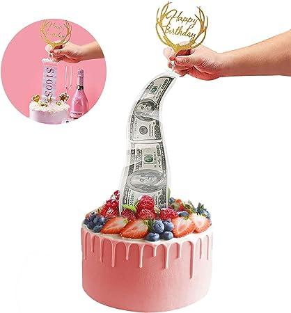 Brilliant Happy Birthday Cake Topper Cake Money Box Funny Money Pulling Personalised Birthday Cards Veneteletsinfo
