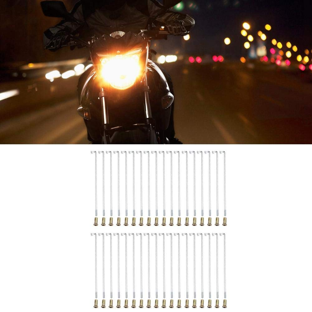 Ejoyous Universal 36 Pcs Diameter 3.75mm Motorcycle Iron Spokes for Most Motorcycle 817