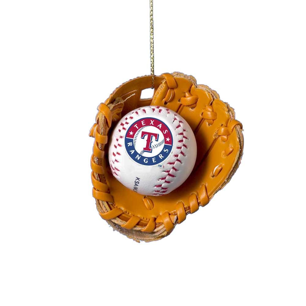 amazoncom texas rangers ball and glove christmas ornament health personal care