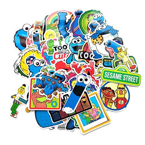 Street Sesame Laptop - A Sticker Shop 50pcs Sesame Street tv Show Creative DIY Stickers Funny Decorative Cartoon for Cartoon PC Luggage Computer Notebook Phone Home Wall Garden Window Snowboard