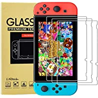 [3 Pack] Screen Protector Tempered Glass for Nintendo Switch, LNtech HD Clear Protective Glass Film Shatter-Proof Anti…