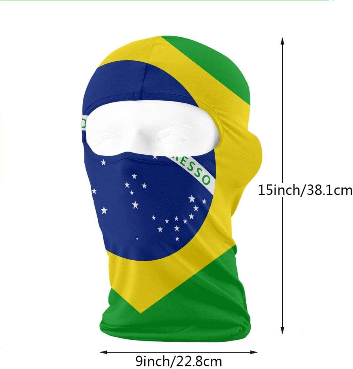 Wind-Resistant Face Mask LaoJi Brazil Flags and Buildings Winter Ski Mask Balaclava Hood