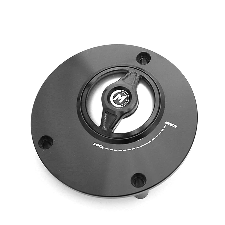 Silver REVO-B Quick Lock Fuel Tank Cap For Yamaha YZF R6 99-19 YZF R1 98-19 MT03 06-09 16-19 MT09 13-19 MT07 14-19 MT10