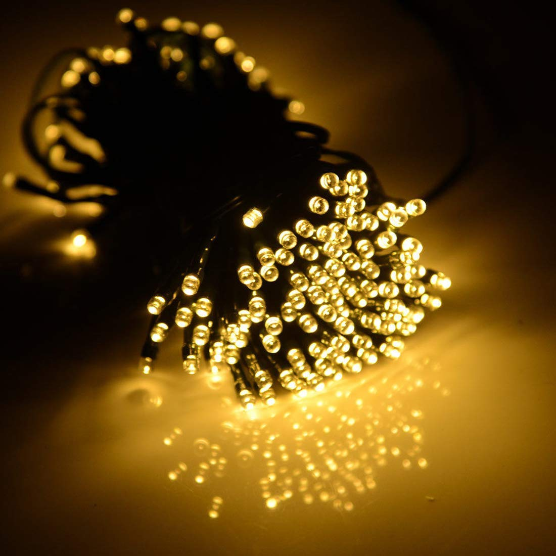 2 Pack Solar String Lights 33ft 100 Led Solar and Battery Powered Outdoor String Lights Waterproof Fairy Lights with 8 Modes Copper Wire Lights for Xmas Tree Garden Homes Ambiance Wedding Lawn Party