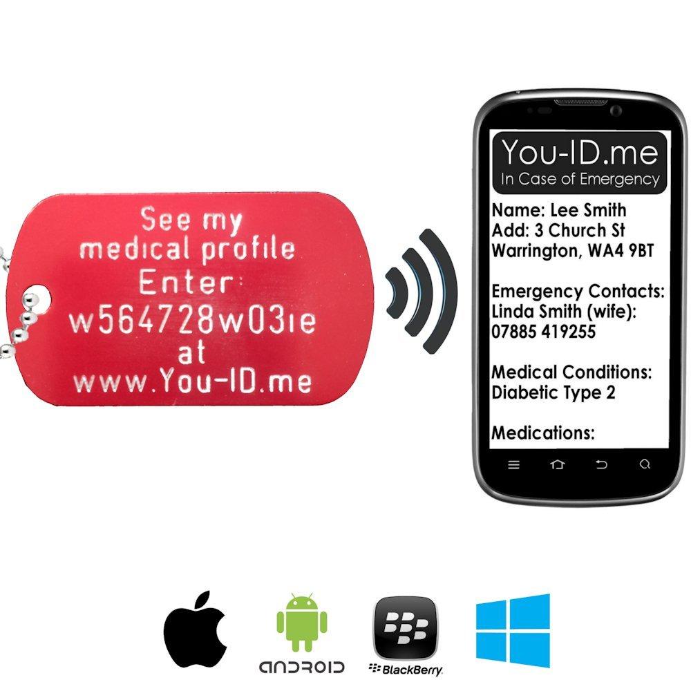 Amazon.com: Colgante de identificación médica de emergencia ...