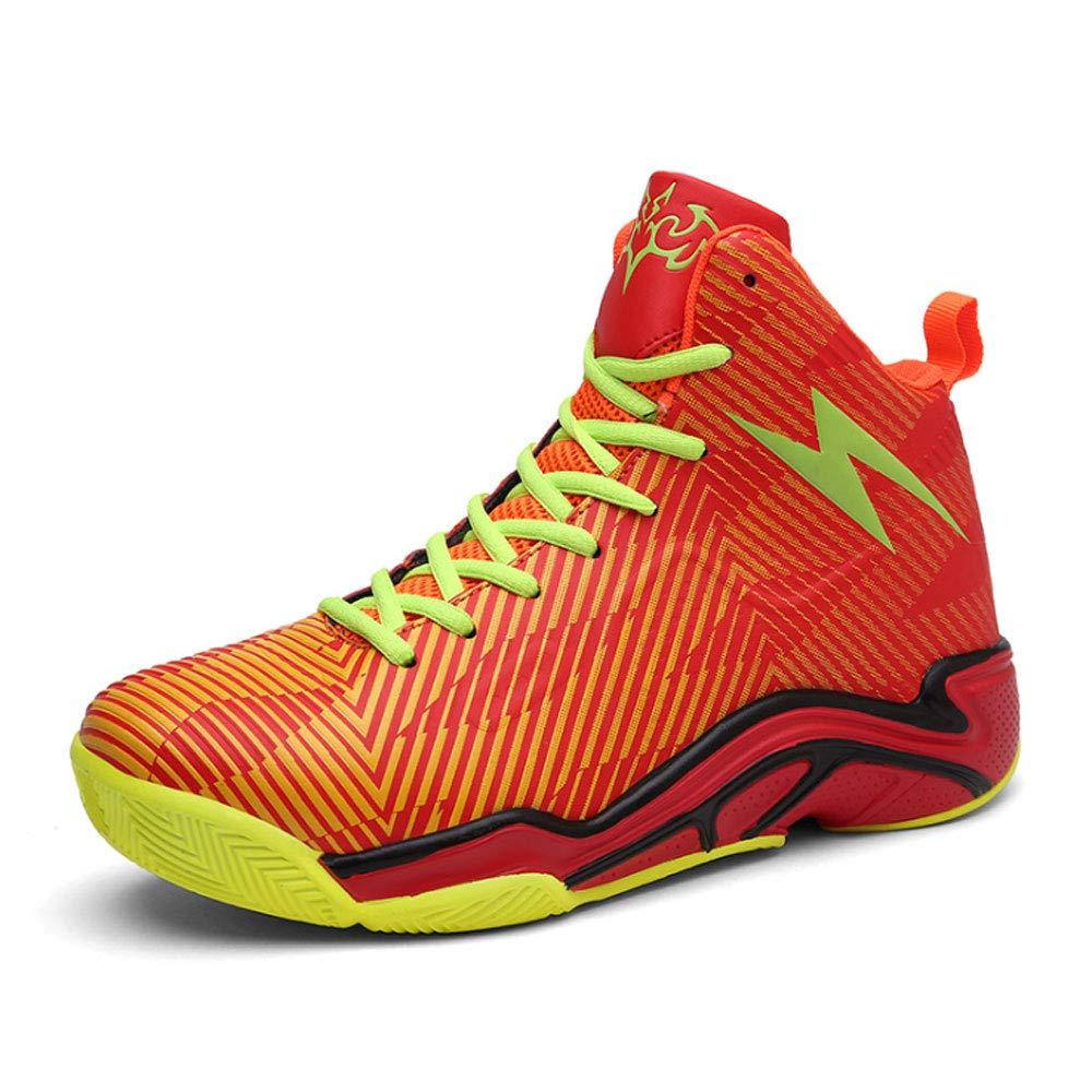 ASDFGH Basketball-Schuhe, Stoßdämpfung Und Verschleißfestigkeit Rutschfeste Stiefel Trainer Turnschuhe Herren Outdoor Venue Stiefel,Orange,40