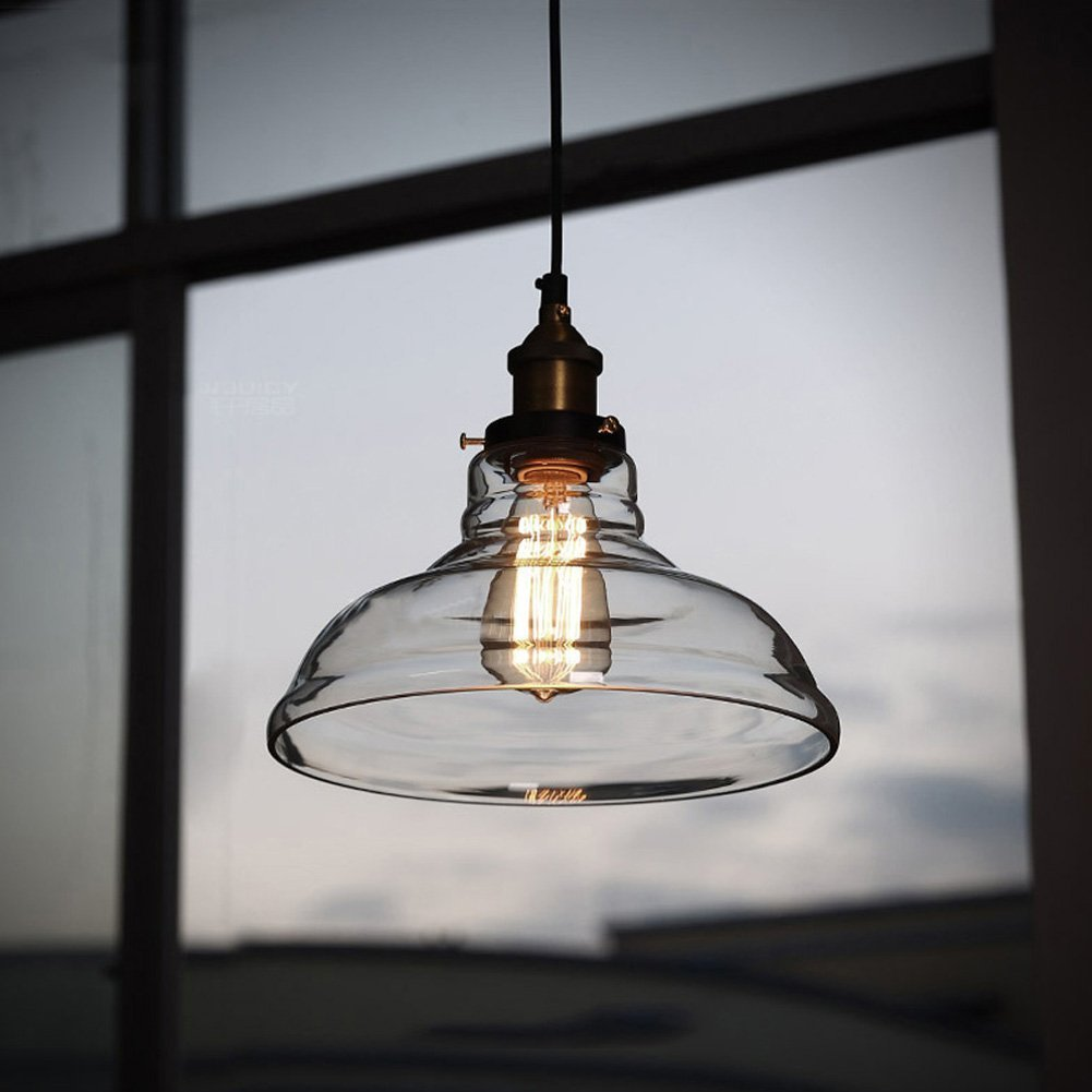 Hanging Light Fixture Replacement Glass: Pendant Light Hanging Glass Ceiling Mounted Chandelier