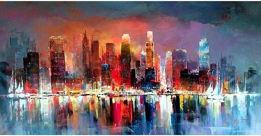 QIAISHI Art Contemporain peintures de paysages