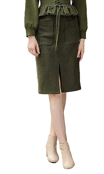 Faldas Mujer La Rodilla Vintage Fashion Falda Elegantes Otoño ...