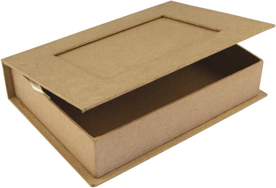 22,8x16x5/cm/ RAYHER 71747000/Book Box Papier-M/âch/é FSC 100/% Recycled /with Photo Frame