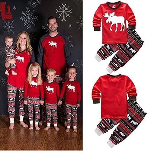 Matching Christmas Stripes Pajamas Sleepwear