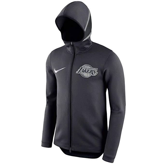 89a4fe18 Amazon.com : LA Lakers 2018 Men's Showtime Therma Flex Performance Full-Zip  Hoody- Anthracite (Small) : Sports & Outdoors