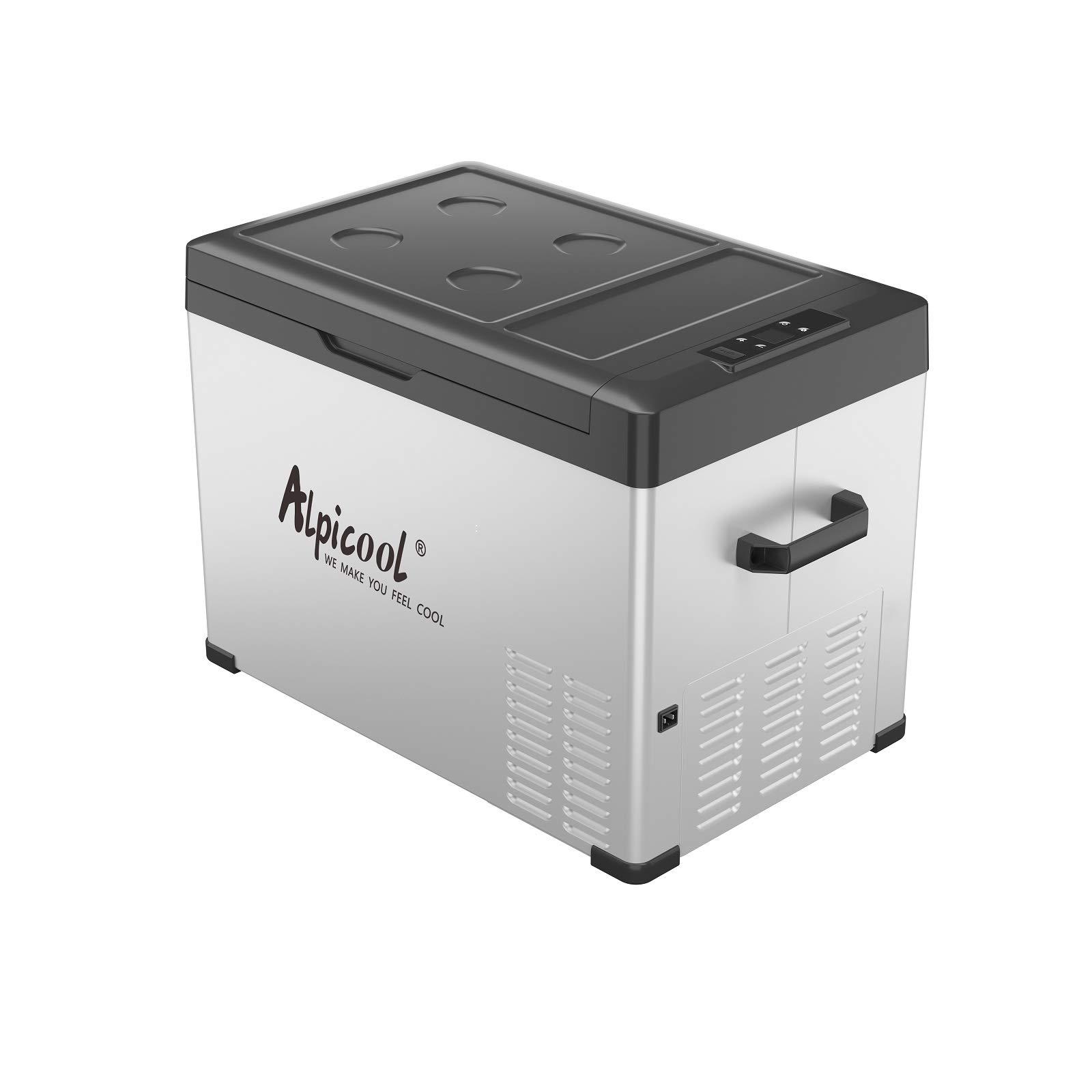 Support 12//24V DC and 100-240V AC Small Freezer Travel and Camping BODEGA APP Control Car Fridge 38 Quart(36L) Protable RV Refrigerator,-4℉-68℉ Electric Cooler Dual Zone