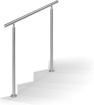 Paneltech 100cm Handlauf Gel/änder Edelstahl Gel/änder Treppengel/änder Edelstahl Br/üstung Gel/änder-Set f/ür Br/üstung Treppen Balkon mit Querstange