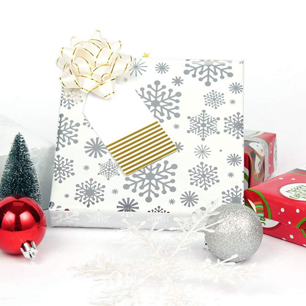 KOBWA 3/x 7/m Rotoli Carta da imballaggio Wrap/ /Fiocchi di Neve//Babbo