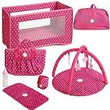 Best Badger Basket Baby Cribs - Badger Basket Folding Doll Furniture Set with Storage Review