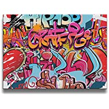 Shannon BrownriceS Hip Hop Graffiti Family Frameless Decor Canvas Wall Art Painting For Home,Living Room,Bedroom,office Modern Decoration 1620 Inches