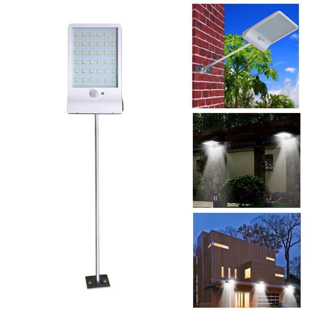 Livoty 36 LED Solar Motion Sensor Lights Garden Safety Lights (White)
