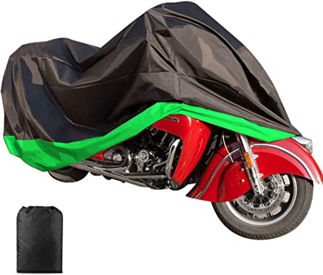 ILM Motorcycle Cover Waterproof Sunblock Dustproof Outdoor Garage Motor Cover with 3 Adjustable Buckles XXXL Fit up to 108