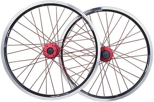 Knoijijuo Juegos de Ruedas de Bicicletas 20 Pulgadas BMX llanta de ...