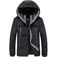 Hombres chaqueta con capucha de calefacción eléctrica, la