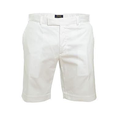 5468dbfb68c0 Ralph Lauren Bermuda chino blanc pour homme  Amazon.fr  Vêtements et ...