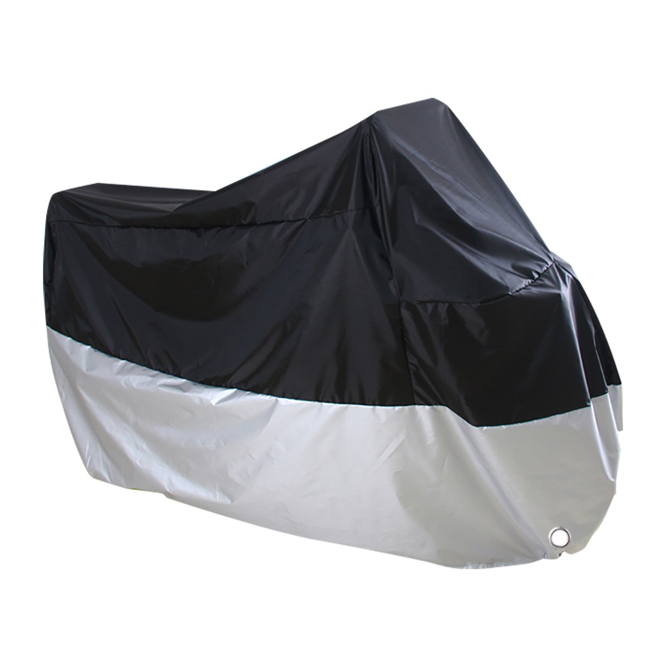 Waterproof Motorcycle Cover - Protects Against Rain, Sun, UV, Dust, Wind, Hail - Includes Storage Bag - Anti-Theft Lock Holes - Buckle for Wind Resistance, 107 x 43.3 x 51 Inches Juvale