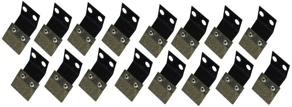 Diamabrush Concrete Prep Tool Blades - 16 Blades - 25 Grit - zconbld25r16