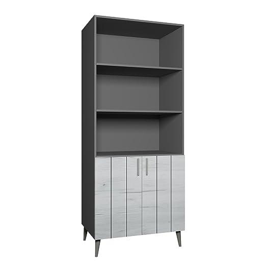 Wohnzimmer Set Weiß Standregal im skandinavischen Stil Wandschrank Universal Regal Mirjan24  Regal Bello B5 Bücherregal