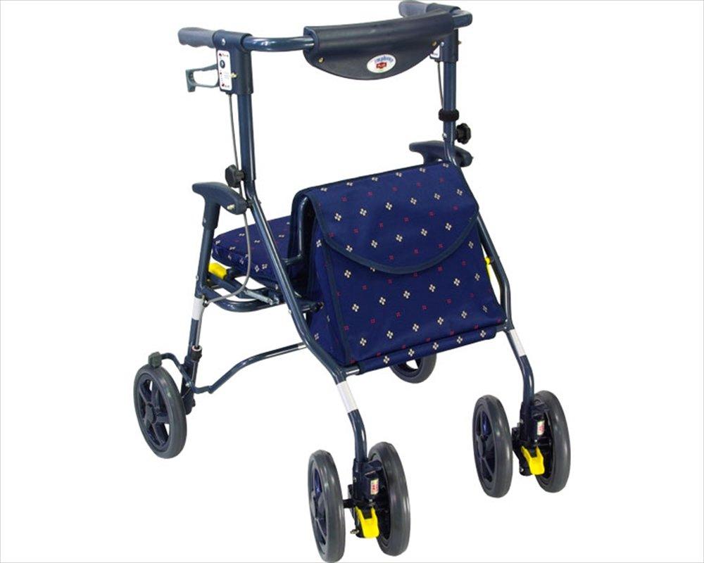 【非課税】島製作所 歩行車 シンフォニープラス80 かすり紺 B008A1PZBK かすり紺 かすり紺
