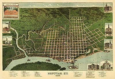 Paducah, Kentucky - Panoramic Map