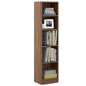 Spacewood William Bookcase (Walnut Bronze)