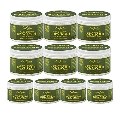 SheaMoisture Olive & Green Tea Hand/Body Scrub, 12 Ounce (10 pack) by by Shea Moisture