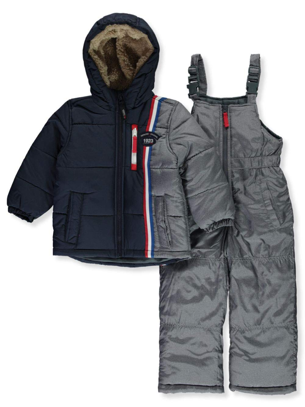 London Fog Boys' Toddler 2-Piece Snow Pant & Jacket Snowsuit, Navy Solid, 3T by London Fog