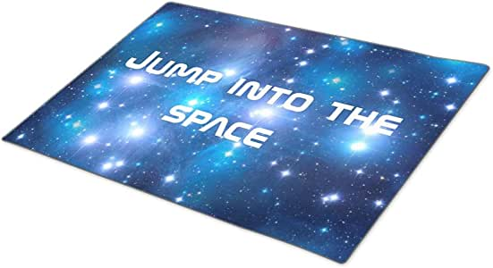 Monogrammed Door Mat Blue Universe Stars your ideas Washable Mats