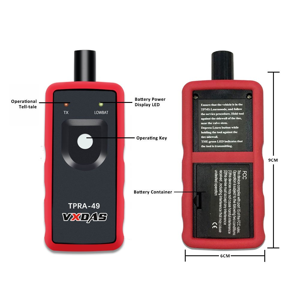 VXDAS TPRA-49 Auto Tire Pressure Monitor Sensor TPMS Relearn Reset Activation Tool OEC-T5 for Ford Series Vehicle