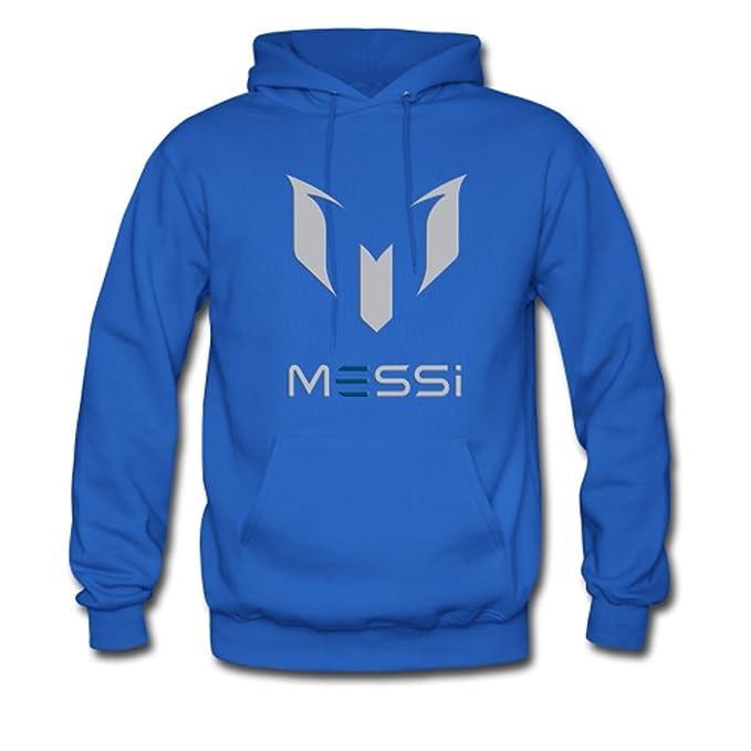 Youth Boy jugador de fútbol Messi Logo Gildan con capucha sudadera chaqueta sudadera con capucha azul: Amazon.es: Ropa y accesorios