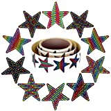 Star Stickers Roll | These 10 Vibrant Color Designs make up The Best Assorted STAR STICKERS ROLL on Amazon | Includes a full 130 1.5