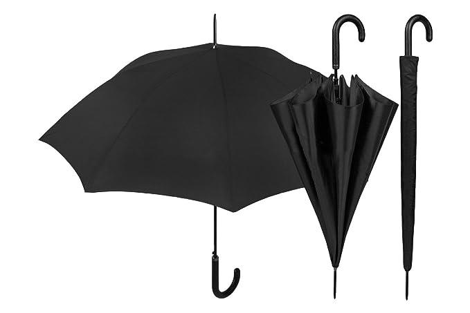 Paraguas hombre golf largo PERLETS BASIC negro sólido color automático 12029