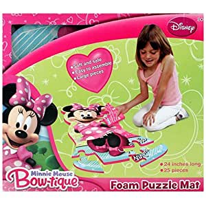 Disney Minnie Mouse Bow-tique 25-piece Floor Foam Puzzle Mat