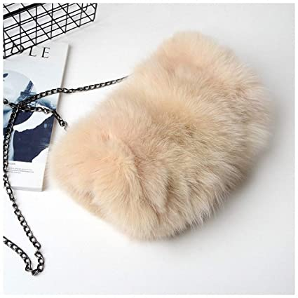 aee01eef69f0 Womens Shoulder Bags Fashion Real Fox Fur Women Messenger Bag Winter New Women  Chain Shoulder Bag