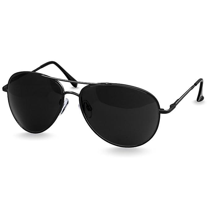 Caspar SG013 Gafas de Sol Unisex de Estilo Police/Piloto - de Espejo o Tintados, Color:negro/negro