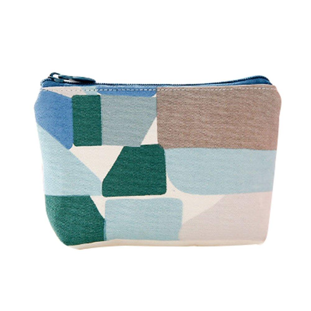 Canvas Style B Fablcrew Canvas Coin Purse Zipper Bag Mini Coin Storage Pouch for Women Girls 12 * 9CM