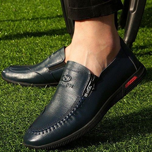 Marea Solos De Cuero Hombres Casuales Nuevos De Transpirables De Los Zapatos Los Los Hombres Británicos Zapatos YXLONG Pie Y El De Zapatos Zapatos Los La Primavera Hombres Otoño Zapatos De 2627blue De vU7A4x
