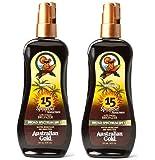Australian Gold SPF 15 Sunscreen Spray Gel with Instant Bronzer, 8 Ounce (2 Pack)