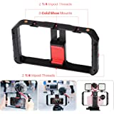 Ulanzi Video Rig Pro, iPhone Filmmaking Recording Vlogging Rig Case - Phone Movies Mount Stabilizer Grip Tripod Mount for Mobile Phone Videomaker Film-maker Videographer for iPhone Sumsang etc.